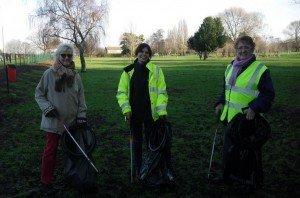 Golf course litter pick