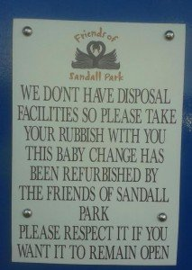 Baby change sign