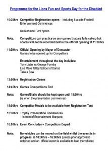 Lions day programme